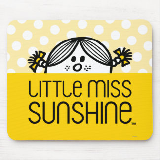 Little Miss Sunshine Peeking Over Name Mouse Pad