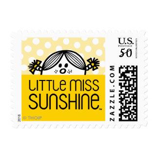 Little Miss Sunshine Peeking Over Name Postage