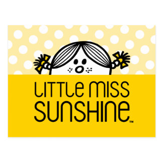 Little Miss Sunshine Peeking Over Name Postcard