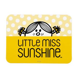 Little Miss Sunshine Peeking Over Name Rectangular Photo Magnet