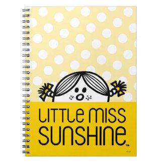Little Miss Sunshine Peeking Over Name Spiral Notebook
