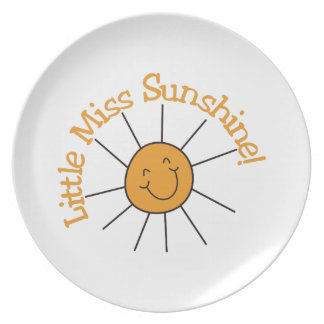 Little Miss Sunshine Plate