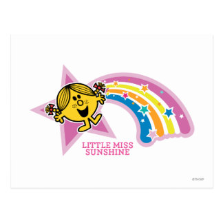 Little Miss Sunshine | Rainbows & Stars Postcard