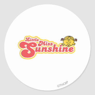 Little Miss Sunshine | Red Bubble Lettering Classic Round Sticker
