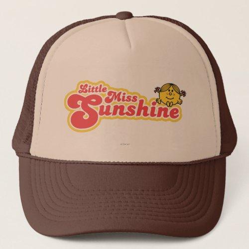 Little Miss Sunshine   Red Bubble Lettering Trucker Hat