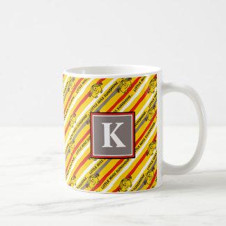 Little Miss Sunshine | Red, Yellow Stripes Pattern Coffee Mug