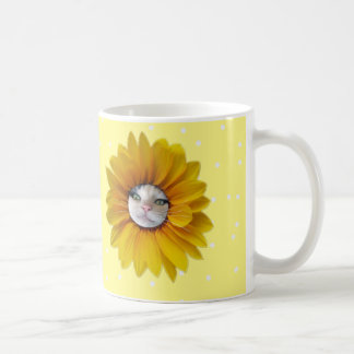 Little Miss Sunshine Smiling Cat Coffee Mug