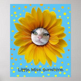 Little Miss Sunshine Smiling Cat Poster
