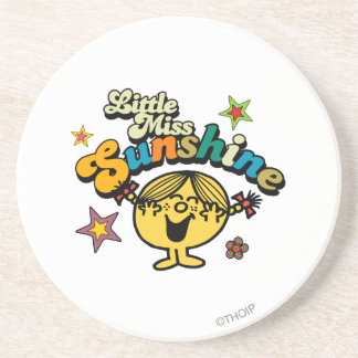 Little Miss Sunshine Stars & Flowers Drink Coasters