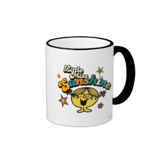 Little Miss Sunshine | Stars & Flowers Ringer Coffee Mug