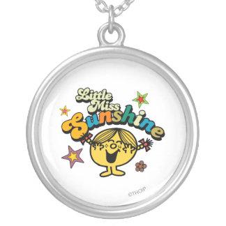 Little Miss Sunshine | Stars & Flowers Round Pendant Necklace