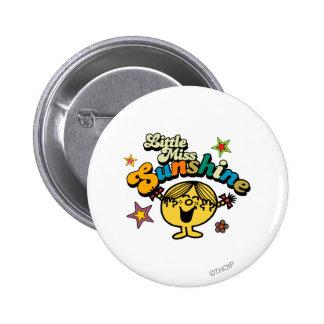 Little Miss Sunshine | Stars & Flowers Pinback Button