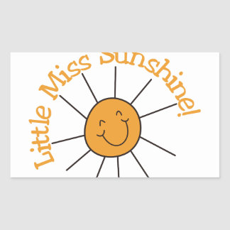 Little Miss Sunshine Rectangular Sticker