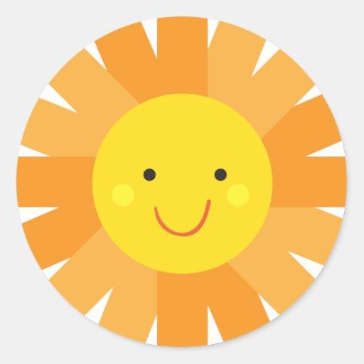 Little Miss Sunshine Sun Invitation Polka Dot Sticker