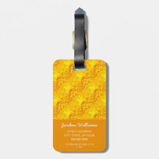 Little Miss Sunshine   Sunny Yellow Pattern Luggage Tag