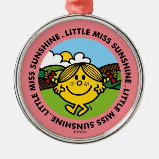 Little Miss Sunshine   Sunshine Circle Metal Ornament