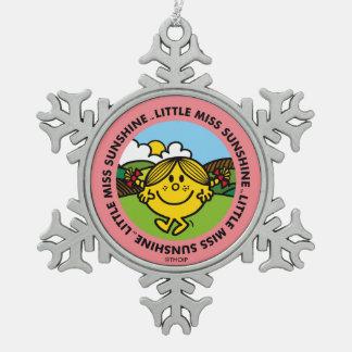 Little Miss Sunshine   Sunshine Circle Snowflake Pewter Christmas Ornament