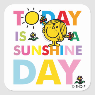 Little Miss Sunshine | Today is a Sunshine Day Square Sticker