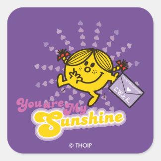 Little Miss Sunshine | Valentine Square Sticker