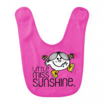 Little Miss Sunshine Walking On Name Graphic Baby Bib