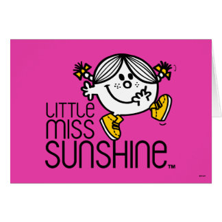 Little Miss Sunshine Walking On Name Graphic Card