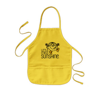 Little Miss Sunshine Walking On Name Graphic Kids' Apron