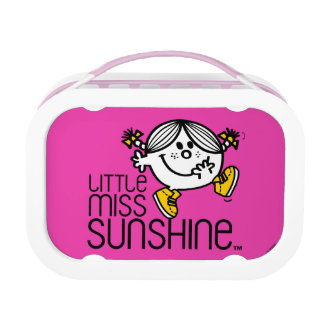 Little Miss Sunshine Walking On Name Graphic Lunch Box