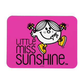 Little Miss Sunshine Walking On Name Graphic Magnet
