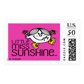 Little Miss Sunshine Walking On Name Graphic Postage Stamp