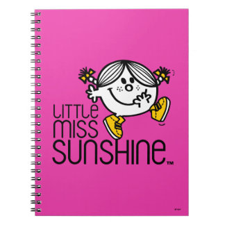 Little Miss Sunshine Walking On Name Graphic Spiral Notebook