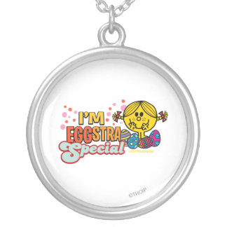 Little Miss Sunshine With Easter Eggs Silver Plated Necklace