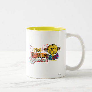 Little Miss Sunshine With Easter Eggs Two-Tone Coffee Mug