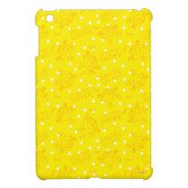 Little Miss Sunshine Yellow And Polka Dot Pattern iPad Mini Case