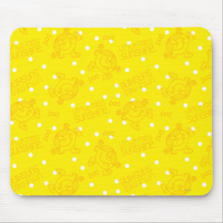 Little Miss Sunshine Yellow And Polka Dot Pattern Mouse Pad