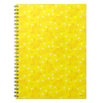 Little Miss Sunshine Yellow And Polka Dot Pattern Notebook