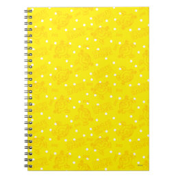Little Miss Sunshine Yellow And Polka Dot Pattern Notebook