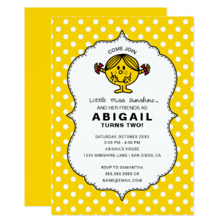 Little Miss Sunshine | Yellow Birthday Card