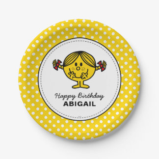 Little Miss Sunshine | Yellow Birthday Paper Plate
