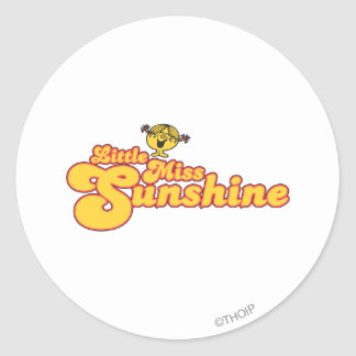 Little Miss Sunshine | Yellow Bubble Lettering Classic Round Sticker
