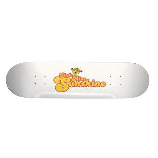 Little Miss Sunshine   Yellow Bubble Lettering Skate Board