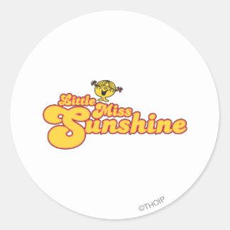 Little Miss Sunshine | Yellow Bubble Lettering Classic Round Sticker