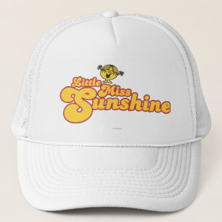 Little Miss Sunshine | Yellow Bubble Lettering Trucker Hat