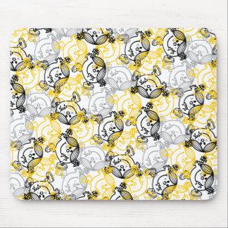 Little Miss Sunshine Yellow Character Pattern Mouse Pad