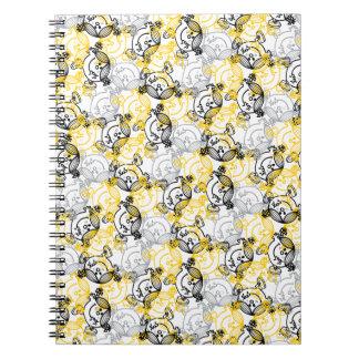 Little Miss Sunshine Yellow Character Pattern Notebook
