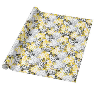 Little Miss Sunshine Yellow Character Pattern Wrapping Paper