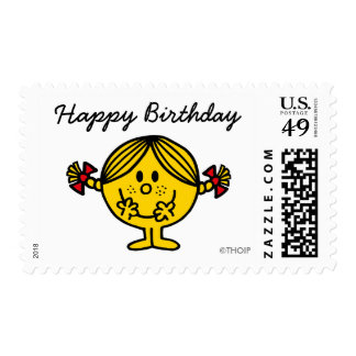Little Miss Sunshine | Yellow Happy Birthday Postage