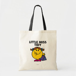 Little Miss Tidy | Black Lettering Budget Tote Bag