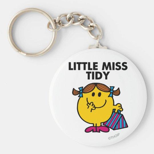 Little Miss Tidy   Black Lettering Keychain