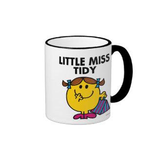 Little Miss Tidy | Black Lettering Ringer Coffee Mug
