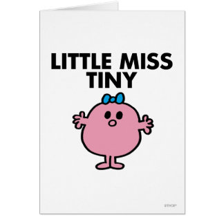 Little Miss Tiny | Black Lettering Card
